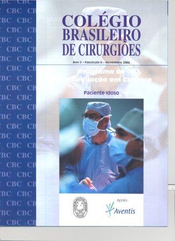 Paciente Idoso - Colégio Brasileiro de Cirurgiões