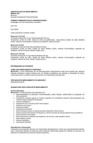 IDENTIFICAÇÃO DO MEDICAMENTO MERCK S/A ... - Onofre
