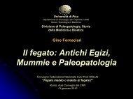 scarica la presentazione - Paleopatologia
