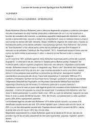 Lucrare de licenta privind tipologia boli ALZHEIMER - Edocr