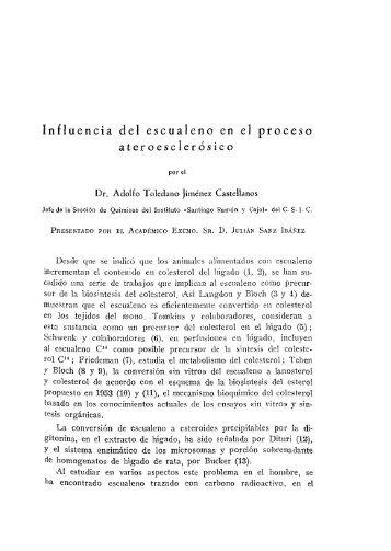 Influencia del escualeno en el proceso ateroesclerósico