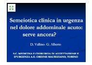 Semeiotica clinica in urgenza nel dolore addominale acuto: ? serve ...