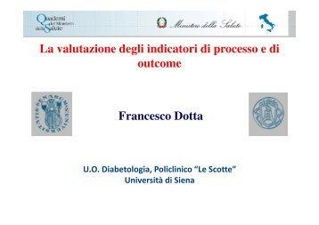 Prof. Francesco Dotta - Quaderni del Ministero della Salute
