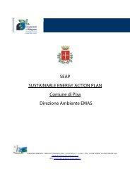 SEAP SUSTAINABLE ENERGY ACTION PLAN Comune di Pisa ...