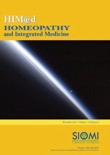 Anno 1, numero 2 - Novembre 2010 - Società Italiana di Omeopatia ...