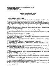 aici - Universitatea de Medicină şi Farmacie Târgu Mureş