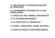 Aspetti Clinici e Complicazioni 2007