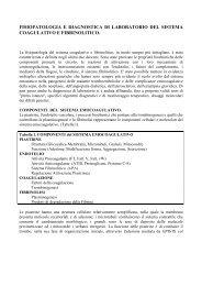 Coagulazione - Patologia Clinica