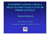 interpretazione critica degli esami coagulativi di primo livello