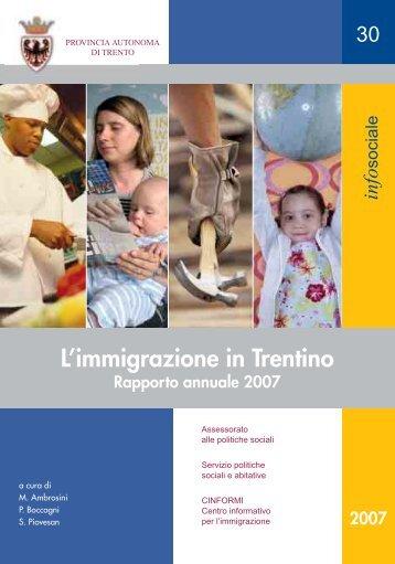 Immigrazione in Trentino 2007_Infosociale 30.pdf - Cinformi