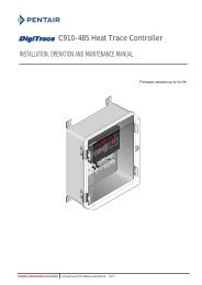 DigiTrace® 910 Series - Pentair Thermal Management