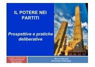 Le slides dell'intervento di Marco Valbruzzi - Istituto De Gasperi
