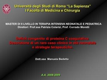Deficit congenito di proteina C coagulativa