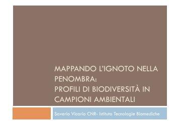 mappando l'ignoto nella penombra - Società Italiana di Biologia ...