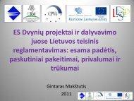 ES Dvynių projektai ir dalyvavimo juose Lietuvos teisinis ...