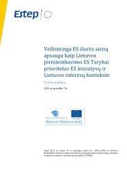 Veiksminga ES išorės sienų apsauga kaip Lietuvos pirmininkavimo ...