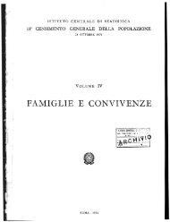 FAMIGLIE E CONVIVENZE - Istat
