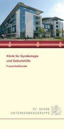 Klinik für Gynäkologie und Geburtshilfe - St. Georg