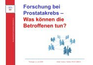 Forschung bei Prostatakrebs - Universitätsklinik für Urologie, Tübingen