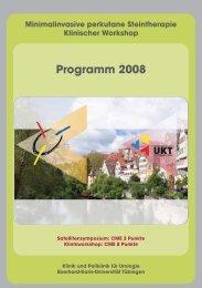 Programm 2008 - Universitätsklinik für Urologie in Tübingen