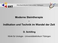 Moderne Steintherapie - Universitätsklinik für Urologie in Tübingen