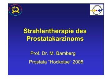 Strahlentherapie des Prostatakarzinoms