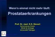 Wenn`s mal nicht mehr läuft... Prostataerkrankungen