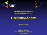 Harninkontinenz - Universitätsklinik für Urologie in Tübingen