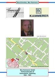 Maschinenbau, Max Kammerer Max Kammerer GmbH ...