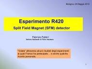 Esperimento R420 - INFN Bologna