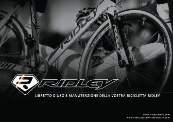 libretto d'uso e manutenzione della vostra bicicletta ridley