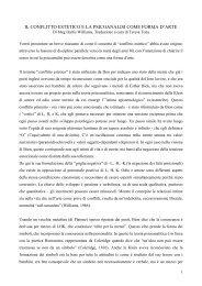 il conflitto estetico e la psicoanalisi come forma ... - Grupporacker.Org
