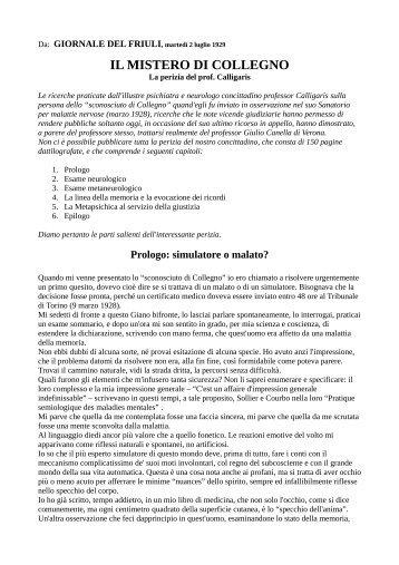 Falsi d 39 autore perizie grafologiche for Calligaris giuseppe