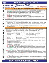 MANUALE PER L'UTENTE INFORMAZIONI IMPORT ... - Teeter Ltd.