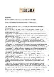 SOMMARIO Gazzetta Ufficiale dell'Unione Europea L 191 23 luglio ...