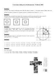 elementi di soluzione prova - Matematica senza frontiere