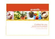 Events by Renaissance 2009 - english version - Marriott Hotels