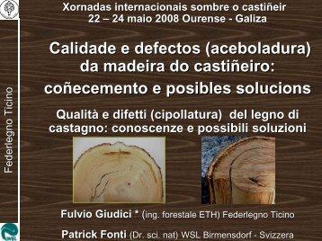Calidade e defectos (aceboladura) da madeira do ... - Medio Rural