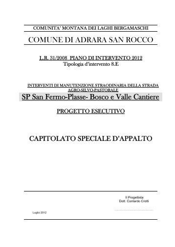 COMUNE DI ADRARA SAN ROCCO SP San Fermo-Plasse- Bosco ...