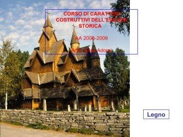 Legno CORSO DI CARATTERI COSTRUTTIVI DELL ... - Architettura