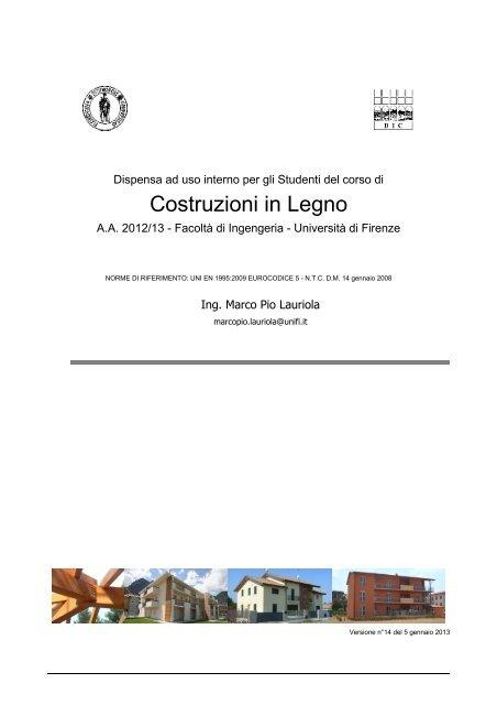 Dispense Del Corso Di Costruzioni In Legno Prof Timberdesignit
