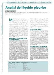 Analisi del liquido pleurico - TimeOut intensiva