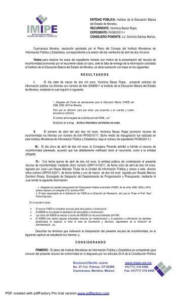 RI- 360-2011-I IEBEM SOBRESEE - Imipe