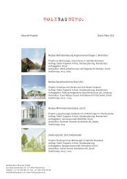 Aktuelle Projekte Stand März 2013 Neubau Wohnüberbauung ...