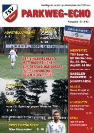 PARKWEG-ECHO - TSV Sasel