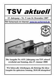 zum Heft Nr. 5 - TSV Scherneck