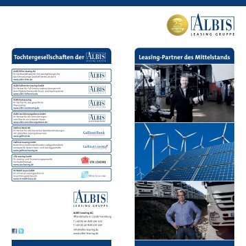 Produktbroschüre ALBIS Leasing Gruppe - UTA Leasing GmbH