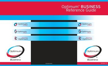 Optimum® BUSINESS Reference Guide - Optimum Online