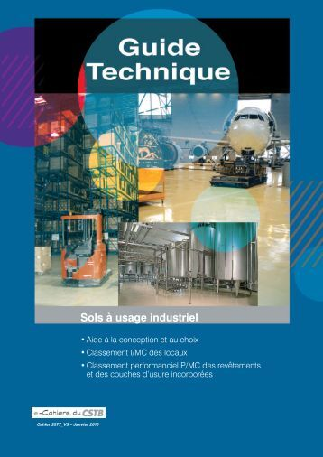 Sols à usage industriel - CSTB