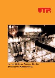 UTP Prospekt Chemie - UTP Schweissmaterial